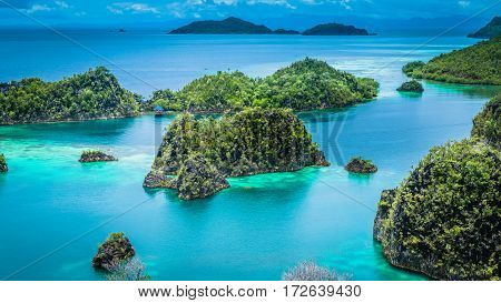 Pianemo Island, Blue Lagoon, Raja Ampat, West Papua Indonesia