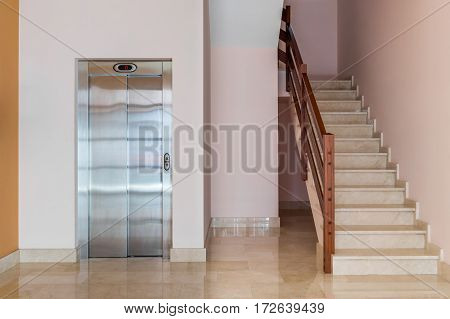 image of elevator in an apartment house