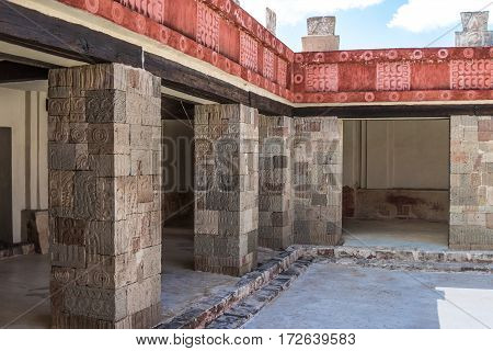 Palace of Quetzalpapalotl near the Pyramid of the Moon in San Juan Teotihuacan close to Mexico City in Mexico.