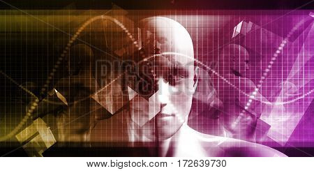 Medical Science Futuristic Technology as a Art 3D Illustration Render