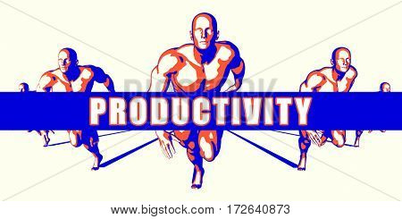 Productivity as a Competition Concept Illustration Art