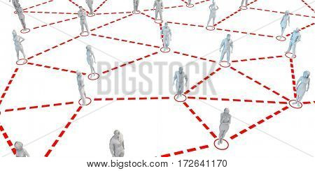 Social Networking for Professionals and Executives as Concept 3D Illustration Render