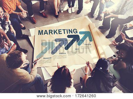 Marketing Organization Management Strategy Concept