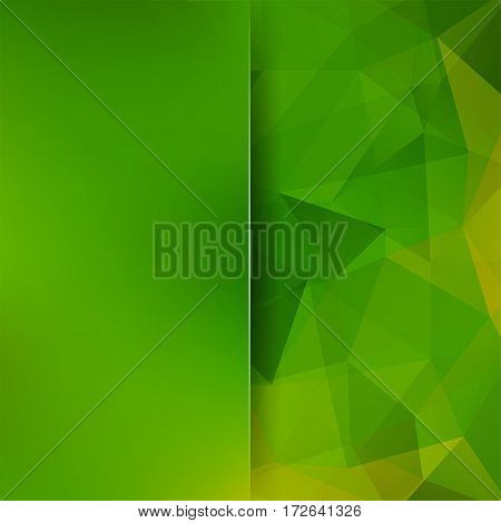 Background Of Geometric Shapes. Blur Background With Glass. Green Mosaic Pattern. Vector Eps 10. Vec
