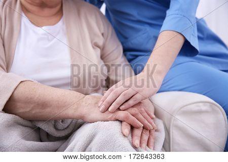 Woman's hands closeup