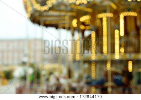 Carousel unfocused lights