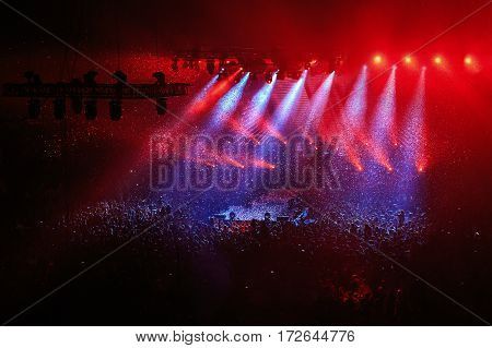 Concert Stage And Lighting Background
