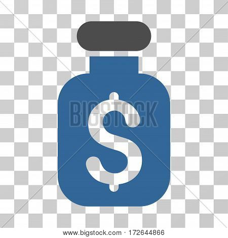 Business Remedy icon. Vector illustration style is flat iconic bicolor symbol cobalt and gray colors transparent background. Designed for web and software interfaces.