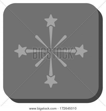 Fireworks interface toolbar button. Vector pictogram style is a flat symbol in a rounded square button light gray and gray colors.