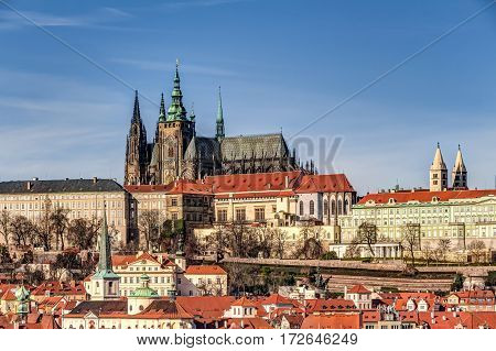 Lesser Town Of Prague With Castle