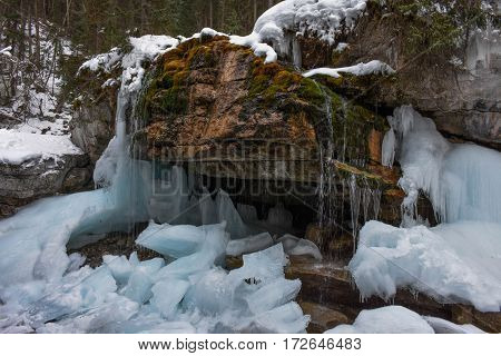 Maligne Canyon Ice Walk in Jasper National Park, Canada