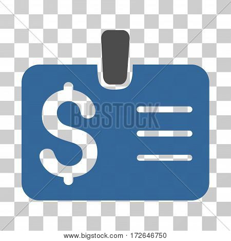 Dollar Badge icon. Vector illustration style is flat iconic bicolor symbol cobalt and gray colors transparent background. Designed for web and software interfaces.