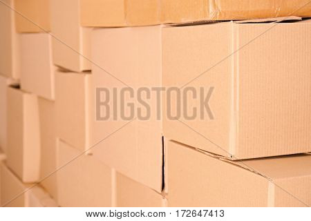Carton boxes, closeup