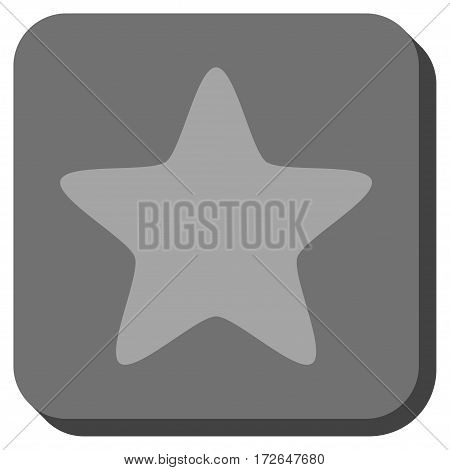 Star interface toolbar icon. Vector pictogram style is a flat symbol in a rounded square button light gray and gray colors.