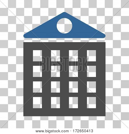 Multi-Storey House icon. Vector illustration style is flat iconic bicolor symbol cobalt and gray colors transparent background. Designed for web and software interfaces.