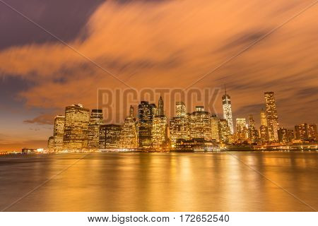 View of lower Manhattan from Brooklyn