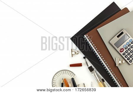 Top View Of Stationery