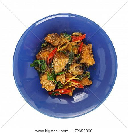 Top View Of Thai Spicy Food
