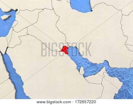 Kuwait On Map