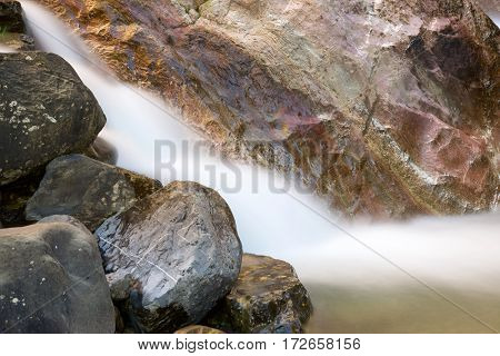 River in Tena Valley, Pyrenees, Huesca Province, Aragon, Spain.