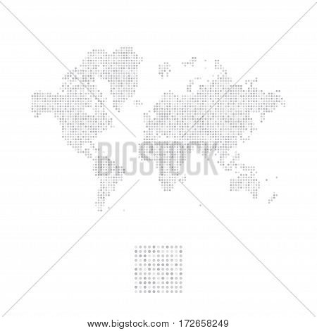 Abstract world map in a round dots. Flat vector illustration EPS 10