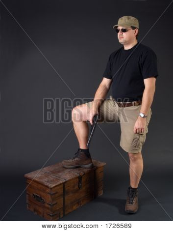 Armored Man With Treasure Chest