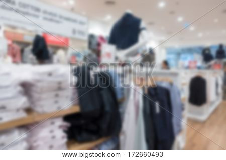 Cloth And Acessorie Modern Store Blur Background