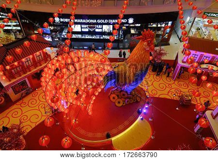 New Year Decoration In The Shopping Mall