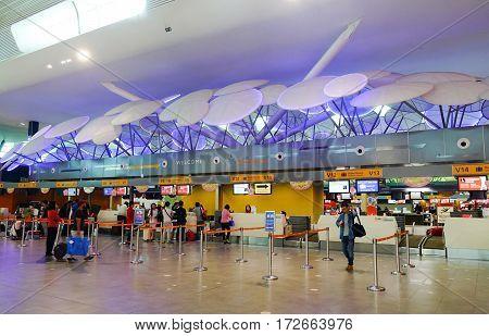Inside Of Klia2 Airport In Kuala Lumpur, Malaysia