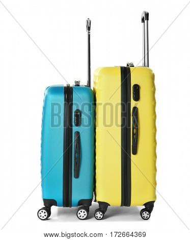 Traveler bags, isolated on white