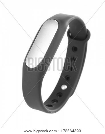Heart rate monitor watch isolated white