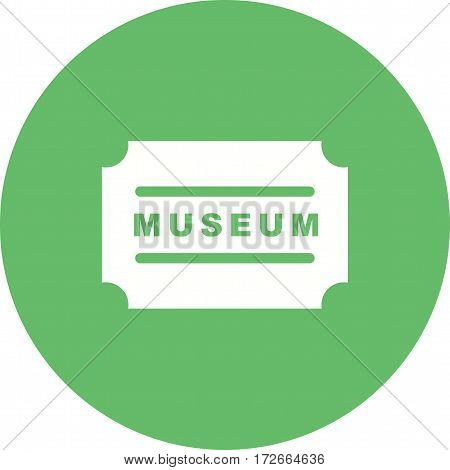 Museum, antique, label icon vector image. Can also be used for meseum. Suitable for web apps, mobile apps and print media.
