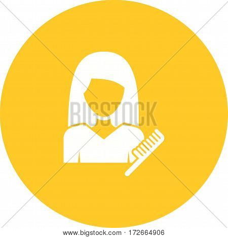 Hair, woman, beauty icon vector image. Can also be used for women. Suitable for mobile apps, web apps and print media.