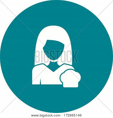 Kitchen, woman, cooking icon vector image. Can also be used for women. Suitable for mobile apps, web apps and print media.