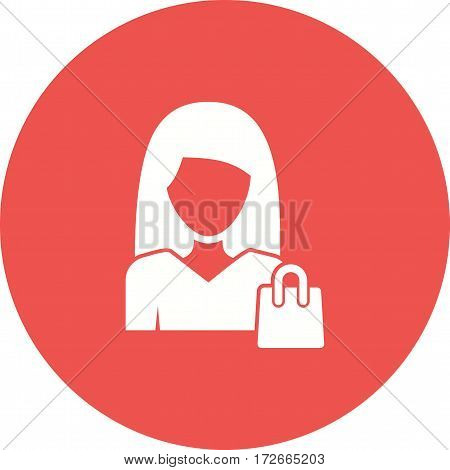 Shopping, store, women icon vector image. Can also be used for women. Suitable for mobile apps, web apps and print media.