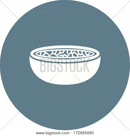 Soup, onion, bread icon vector image. Can also be used for european cuisine. Suitable for mobile apps, web apps and print media.