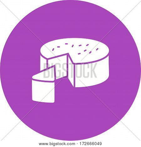 Cheese, goat, food icon vector image. Can also be used for european cuisine. Suitable for mobile apps, web apps and print media.