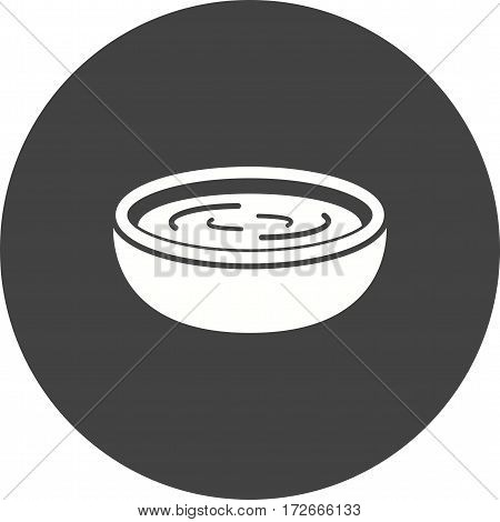 Sauce, food, green icon vector image. Can also be used for european cuisine. Suitable for mobile apps, web apps and print media.