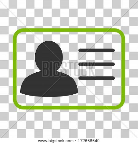 Account Card icon. Vector illustration style is flat iconic bicolor symbol eco green and gray colors transparent background. Designed for web and software interfaces.