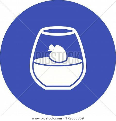 Cotta, panna, dessert icon vector image. Can also be used for european cuisine. Suitable for mobile apps, web apps and print media.