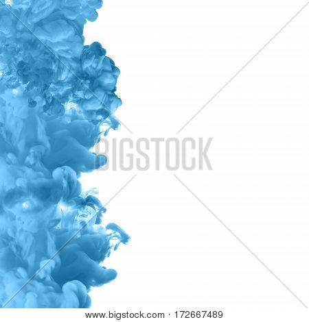 Acrylic colors and ink in water. cloud explosion, ink explosion,thick smoke,abstract white background