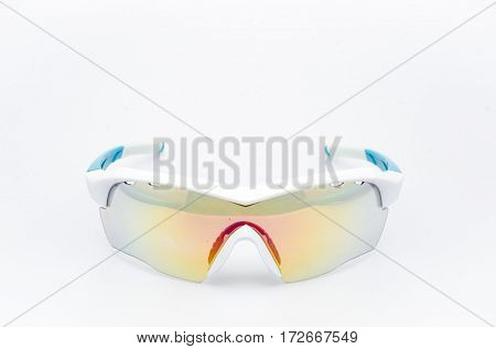 blue frame sunglasses modern  style for bike and sport