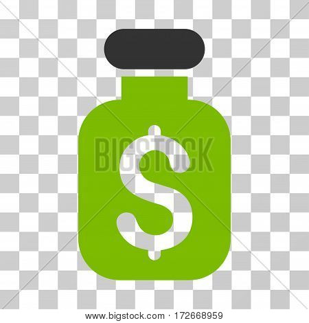 Business Remedy icon. Vector illustration style is flat iconic bicolor symbol eco green and gray colors transparent background. Designed for web and software interfaces.