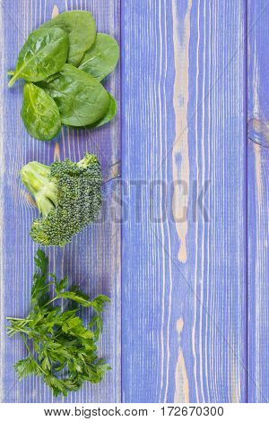 Fresh Vegetables Containing Calcium And Dietary Fiber, Healthy Nutrition