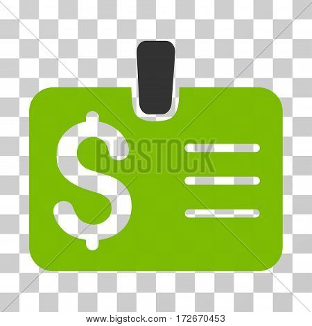 Dollar Badge icon. Vector illustration style is flat iconic bicolor symbol eco green and gray colors transparent background. Designed for web and software interfaces.