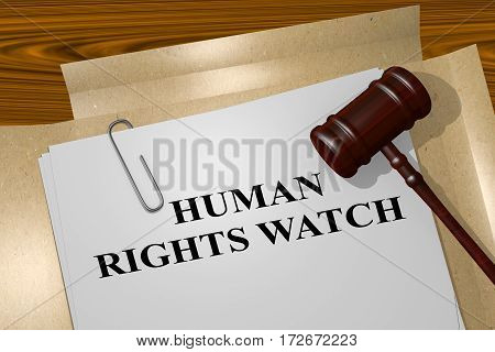 Human Rights Watch - Legal Concept