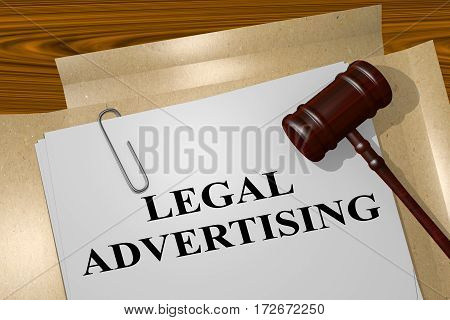 Legal Advertising - Legal Concept