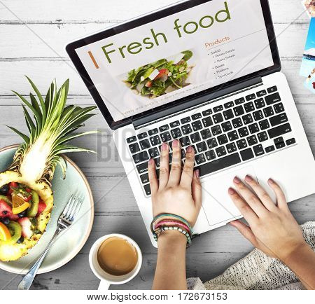 Fresh Food Eating Cafe Calories Nutrition Concept