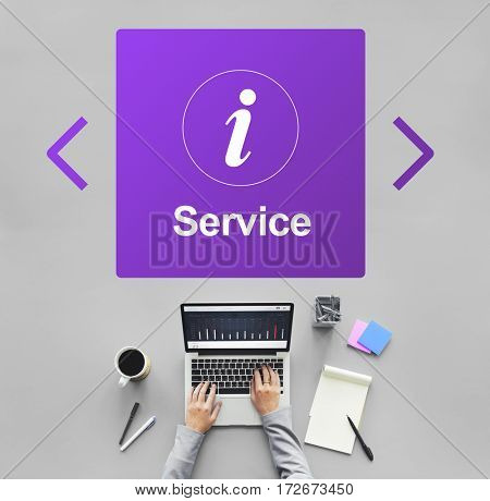 Customer Service Information Icon Concept