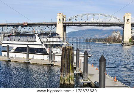 Burrard Bridge at Vancouver, BC Canada March 212017